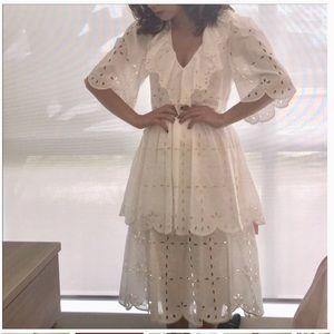 See by Chloé eyelet tiered dress